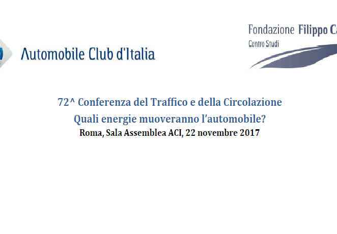 72a Conferenza del Traffico e della Circolazione