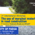 "International Workshop: ""The use of marginal materials in road construction"""