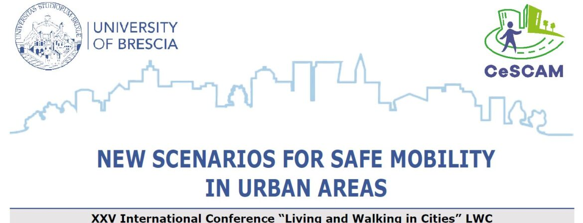 """Call for paper Conferenza Internazionale """"Living and Walking in cities 2021"""""""